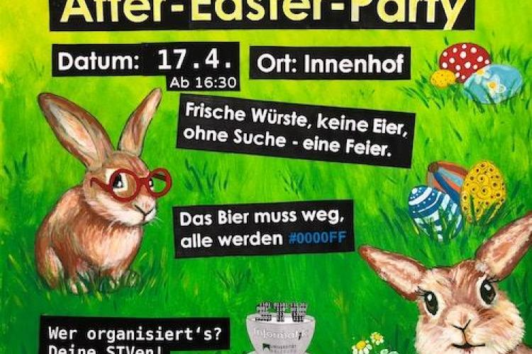 After Easter Party Poster