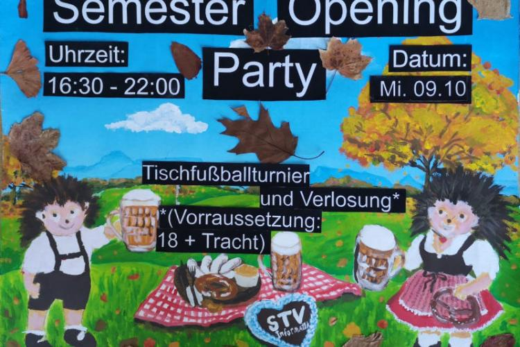 Semester opening party poster